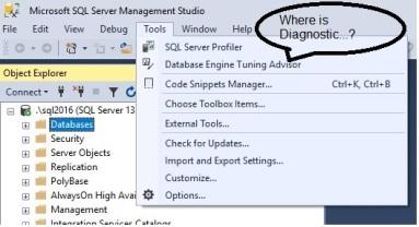 New in SSMS – SQL Server Diagnostics – sqlsheeshya